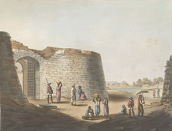 The South Entrance Into The Fort Of Bangalore.